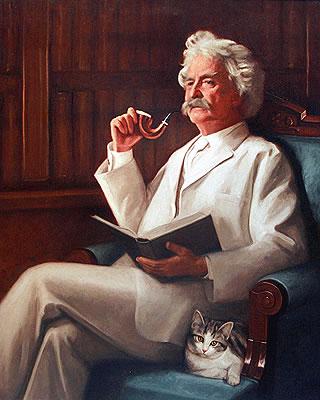 Mark Twain amante de los gatos